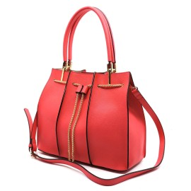 Chain Drawstring Satchel